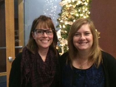 Lisa Weyerhaeuser with Sarah Groves