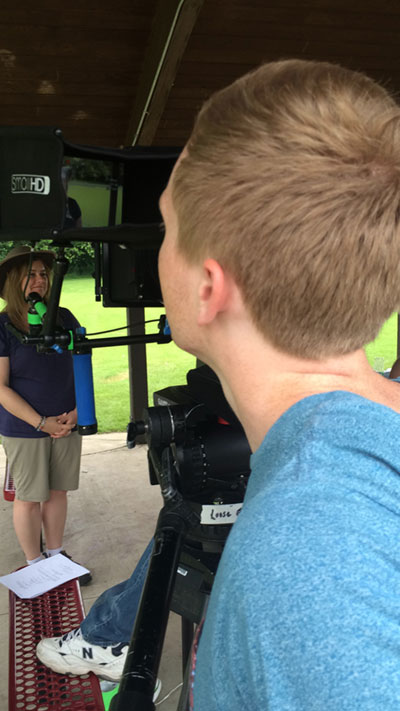 Filming for La-La-Lisa and the Big Green Alligator TV pilot.